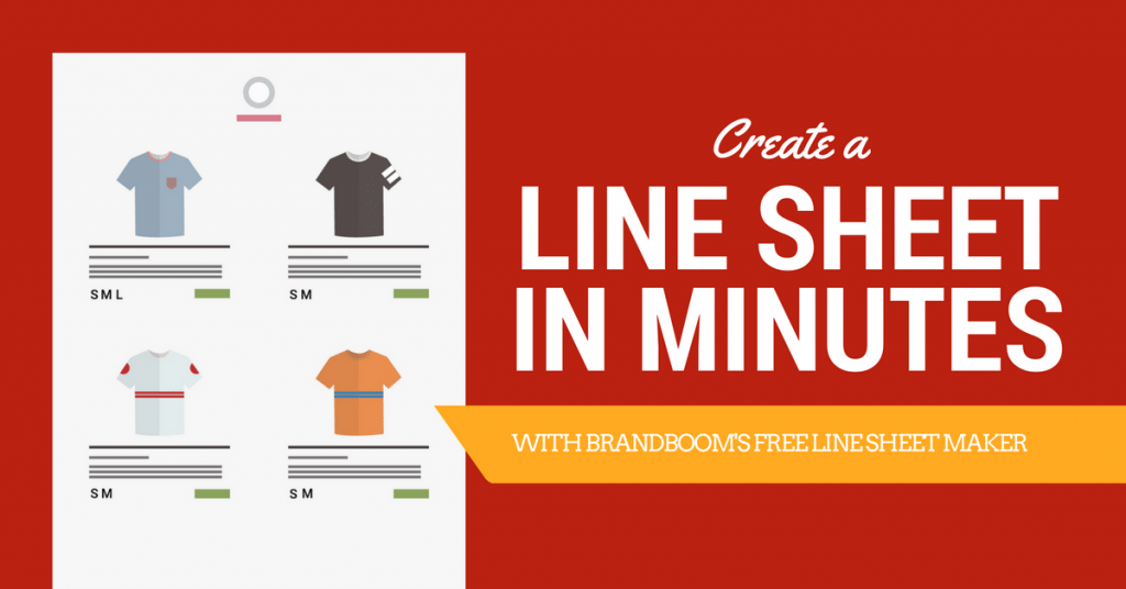 create a line sheet in minutes with our free line sheet maker