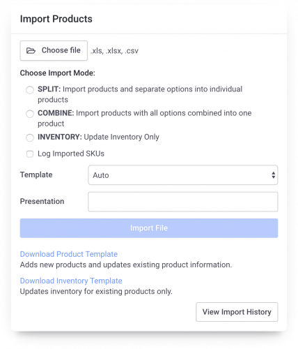 Importing products to bulk upload Catalogs is easy