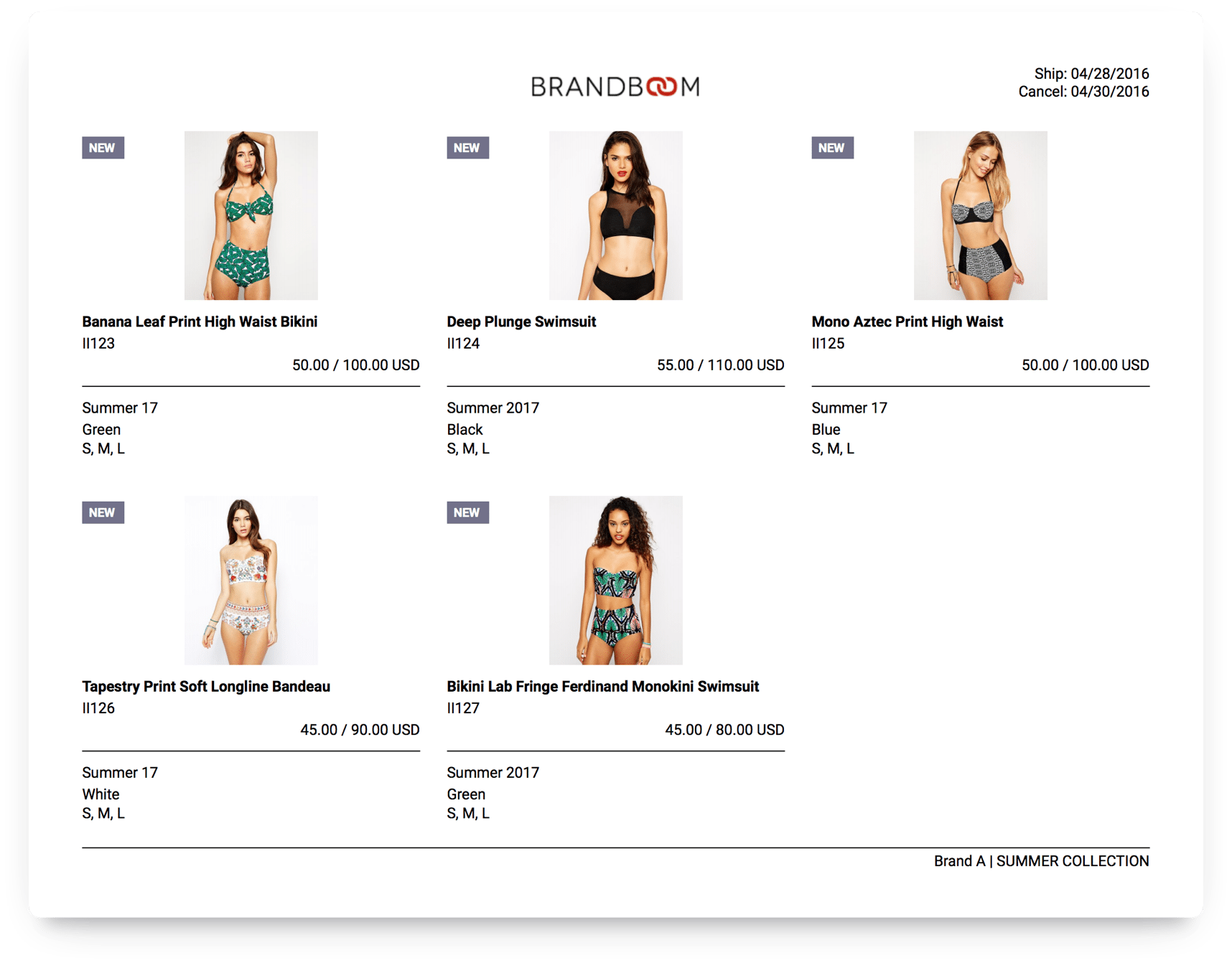Brandboom linesheets make purchases more likely