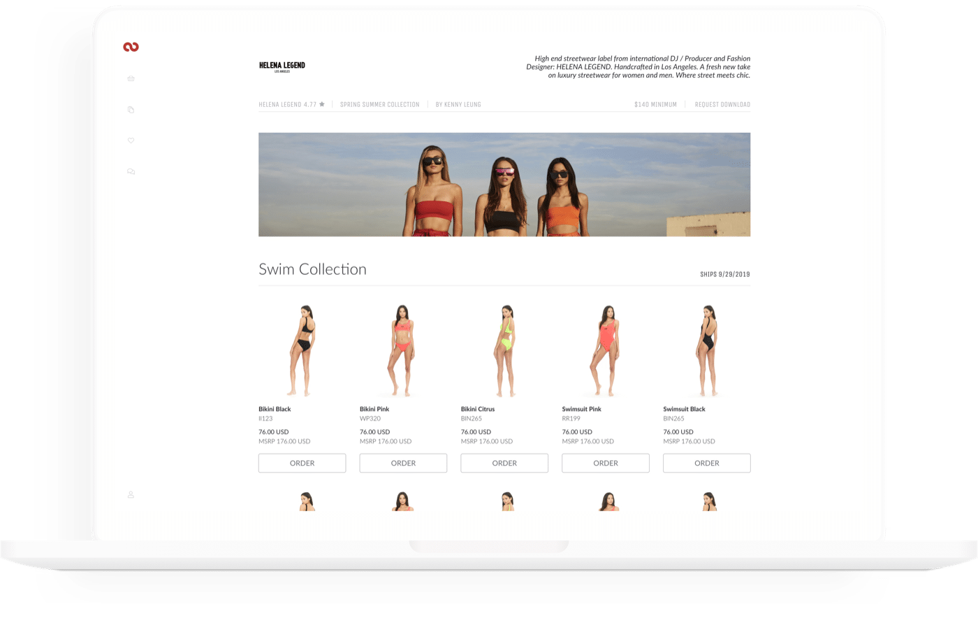 Brandboom's free line sheet pdf maker